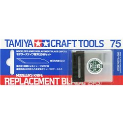 Tamiya 74075 Lames de Cutter - Design Knife Blades 25 Pcs.