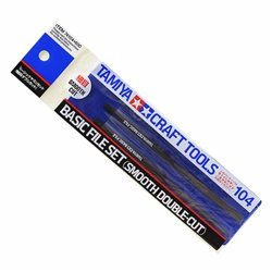 Tamiya 74104 Set de Limes - Basic File Set (Smooth Double-Cut)