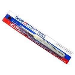 Tamiya 74109 HG Straight Tweezers (Round Tip)