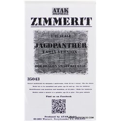 ATAK Model 35043 1/35 Zimmerit Jagdpanther Early Production