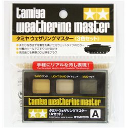 Tamiya 87079 Weathering Master A set - Sand, Light Sand, Mud