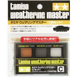 Tamiya 87085 Weathering Master Set C (Orange Rust, Gun Metal, Silver)