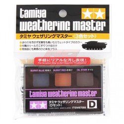 Tamiya 87088 Weathering Master Set D (Burnt Blue, Burnt Red, Oil Stain)