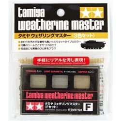 Tamiya 87123 Weathering Master Set F Titanium, Light Gun Metal, Copper