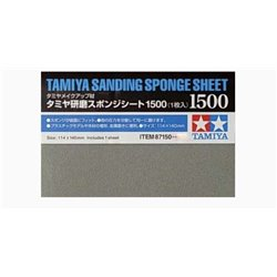 Tamiya 87150 Sanding Sponge Sheet 1500 1 x 140mmx114mm sheet.