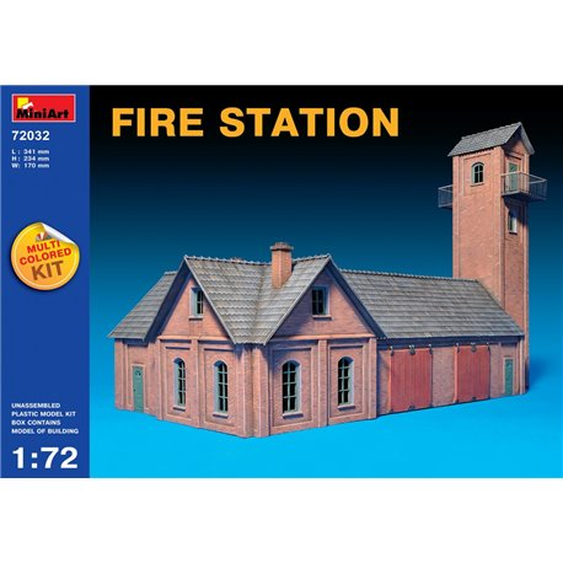 Miniart 72032 1/72 FIRE STATION