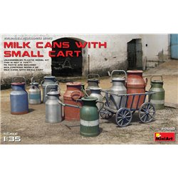 MINIART 35580 1/35 Milk cans with small cart
