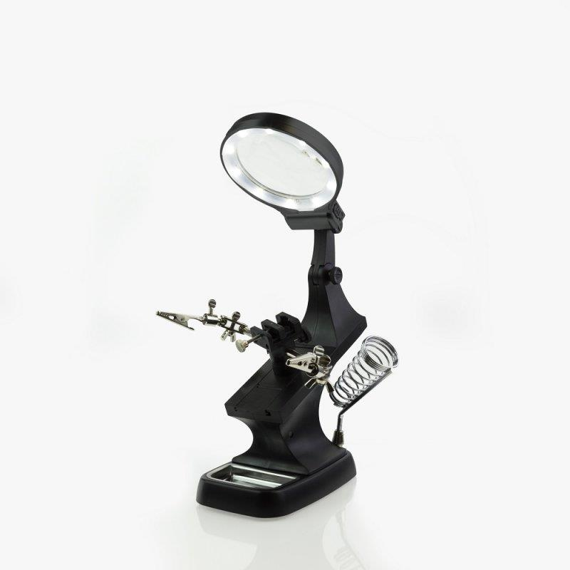 Soldering Iron Stand With Lights TS Helping Hands Magnifier Magnifying Lens