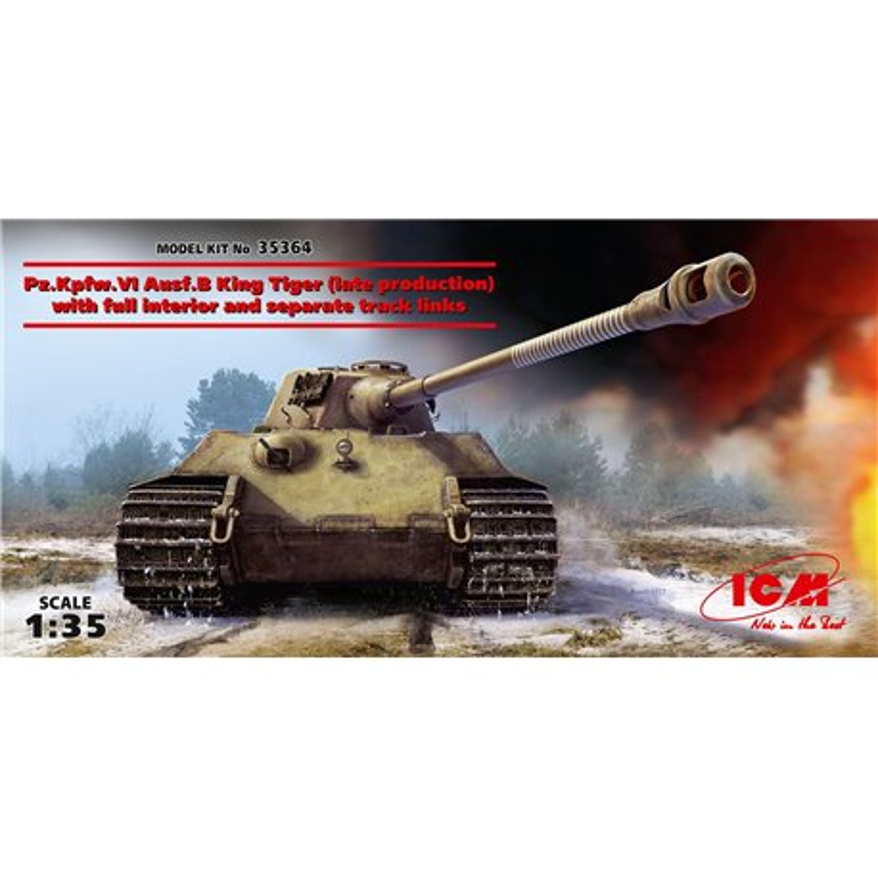 ICM 35364 1/35 Pz.Kpfw. VI Ausf. B King Tiger (late production)