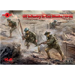 ICM 35704 1/35 US Infantry in Gas Masks 1918