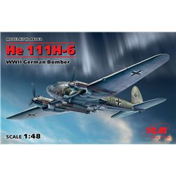 ICM 48262 1/48 He 111H-6 WWII German Bomber