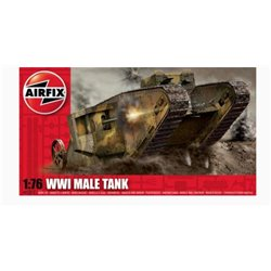 AIRFIX A01315 1/76 WWI Male Tank Mk.I*