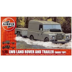 AIRFIX A02324 1/76 LWB Land Rover and Trailer [Hard Top]