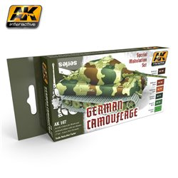 AK Interactive AK167 GERMAN GREEN & BROWN MODULATION SET