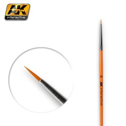 AK Interactive AK600 5/0 ROUND BRUSH. SYNTHETIC