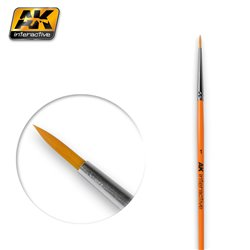 AK Interactive AK603 1 ROUND BRUSH. SYNTHETIC