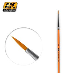 AK Interactive AK604 2 ROUND BRUSH. SYNTHETIC