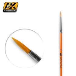 AK Interactive AK605 4 ROUND BRUSH. SYNTHETIC