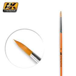 AK Interactive AK606 6 ROUND BRUSH. SYNTHETIC