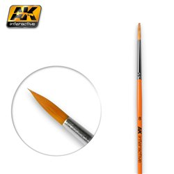 AK Interactive AK607 8 ROUND BRUSH. SYNTHETIC