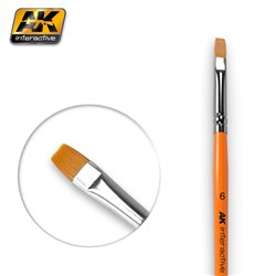 AK Interactive AK611 FLAT BRUSHES 6 SYNTHETIC