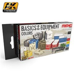 AK Interactive MC803 BASIC & EQUIPMENT COLORS 6x17ml