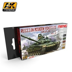 AK Interactive MC806 RUSSIAN MODERN VEHICLES CAMOUFLAGE COLORS VOL. 1 6x17ml