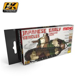 AK Interactive MC809 JAPANESE EARLY VEHICLES CAMOUFLAGE COLORS