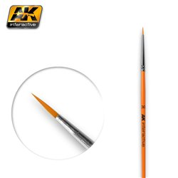 AK Interactive AK601 3/0 ROUND BRUSH. SYNTHETIC