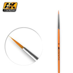 AK Interactive AK602 2/0 ROUND BRUSH. SYNTHETIC