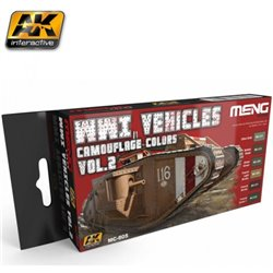 AK Interactive MC805 WWI Vehicles Vol. 2 Color Set 6X17ML
