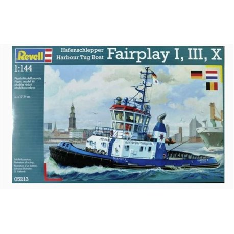 Revell 05213 1/144 Hafensclepper Harour Tug Boat Fairplay I/III/X