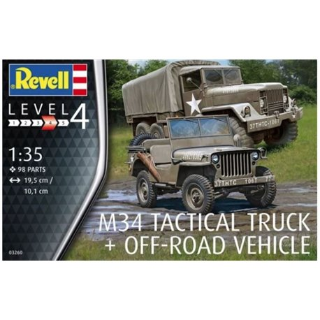 Revell 03260 1/35 Eager Beaver M34 Tactical Truck + Off-Road Vehicle
