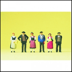 Preiser 10509 Figurines HO 1/87 Costumes Nationaux Suisses Canton d'Uri