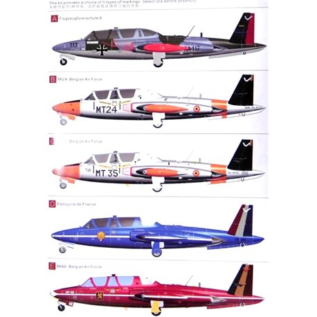AMK 88004 1/48 Fouga CM.170 Magister Belgian and French Army