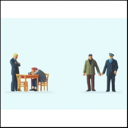 Preiser 10590 Figurines HO 1/87 Interrogatoire - Under interrogation
