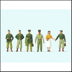Preiser 10594 Figurines HO 1/87 Soldats US de 1950 - 1950's US Soldiers