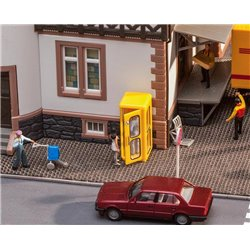 Faller 180955 HO 1/87 Cabine téléphonique Bundespost - Bundespost Telephone booth