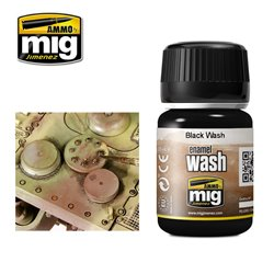AMMO OF MIG A.MIG-1011 Lavis Noir - Black Wash 35ml
