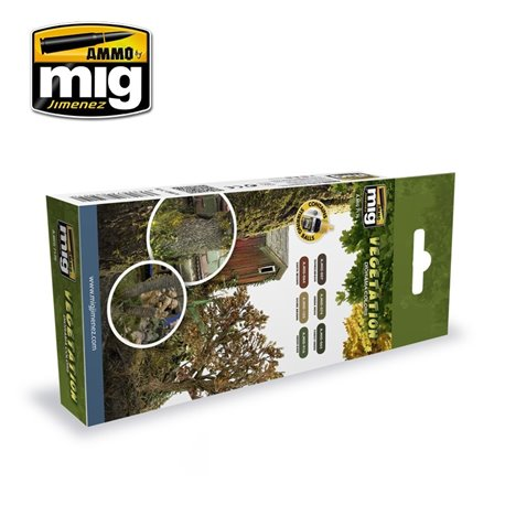 AMMO OF MIG A.MIG-7176 Vegetation Diorama Colors 6x17ml