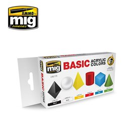 AMMO OF MIG A.MIG-7178 Basic Acrylic Colors 6x17ml