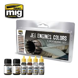 AMMO OF MIG A.MIG-7445 Jet Engines Colors And Weathering Set