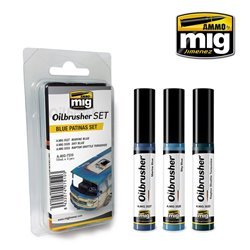 AMMO OF MIG A.MIG-7510 Oilbrusher Set Blue Patina