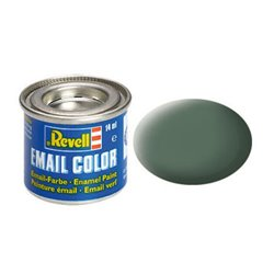 Revell 32167 Enamel RAL7009 Gris Verdâtre – Greenish Grey Mat 14ml