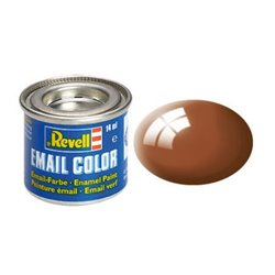 Revell 32180 Enamel RAL8003 Brun Boue – Mud Brown Gloss 14ml