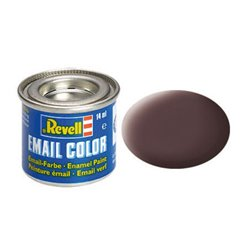 Revell 32184 Enamel RAL8027 Brun Cuir – Leather Brown Mat 14ml