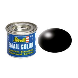Revell 32302 Enamel RAL9005 Noir – Black Silk 14ml