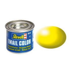 Revell 32312 Enamel RAL1026 Jaune Lumineux – Luminous Yellow Silk 14ml