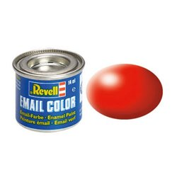 Revell 32332 Enamel RAL3026 Rouge Lumineux – Luminous Red Silk 14ml