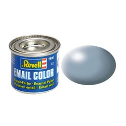 Revell 32374 Enamel RAL7001 Gris – Grey Silk 14ml